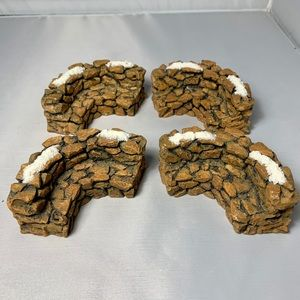 Dept 56 Stone Curved Wall Accessories